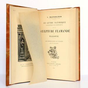Le genre satirique, fantastique et licencieux dans la sculpture flamande et wallonne, Louis Maeterlinck. Jean Schemit, 1910. Frontispice et page titre.