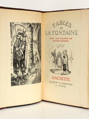 Fables, La Fontaine. Hachette 1934. Frontispice et page-titre.