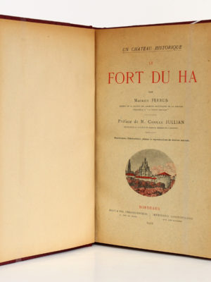 Le Fort du Ha, Maurice Ferrus. Feret & Fils, 1922. Couverture.