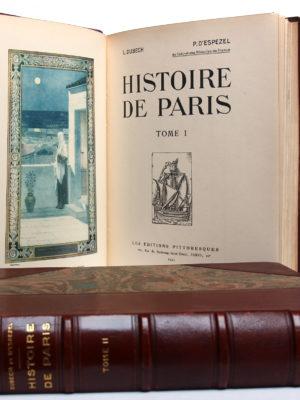 Histoire de Paris, L. Dubech, P. d'Espezel. Les Éditions pittoresques, 1931. 2 volumes. Tome I : frontispice, page titre.