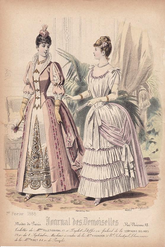 Journal des Demoiselles 1er février 1888. 4662bis.