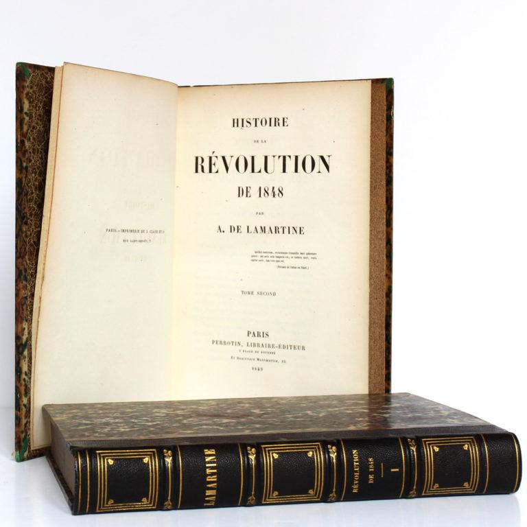 Histoire de la Révolution de 1848, Alphonse de Lamartine. Perrotin, 1849. 2 volumes. Page titre 2.