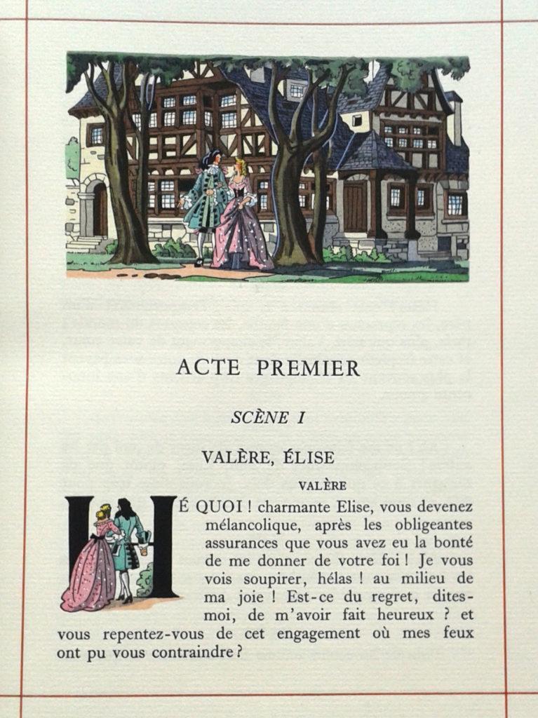 L'Avare, Molière. Éditions Imprimatur 1955. Illustrations Gradassi.