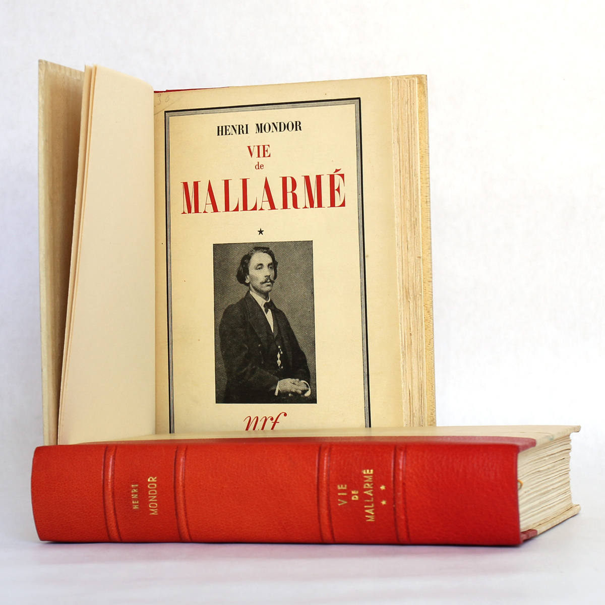 La vie de Mallarmé, Henri Mondor. nrf / Gallimard, 1941-1942. Page titre du volume 1.