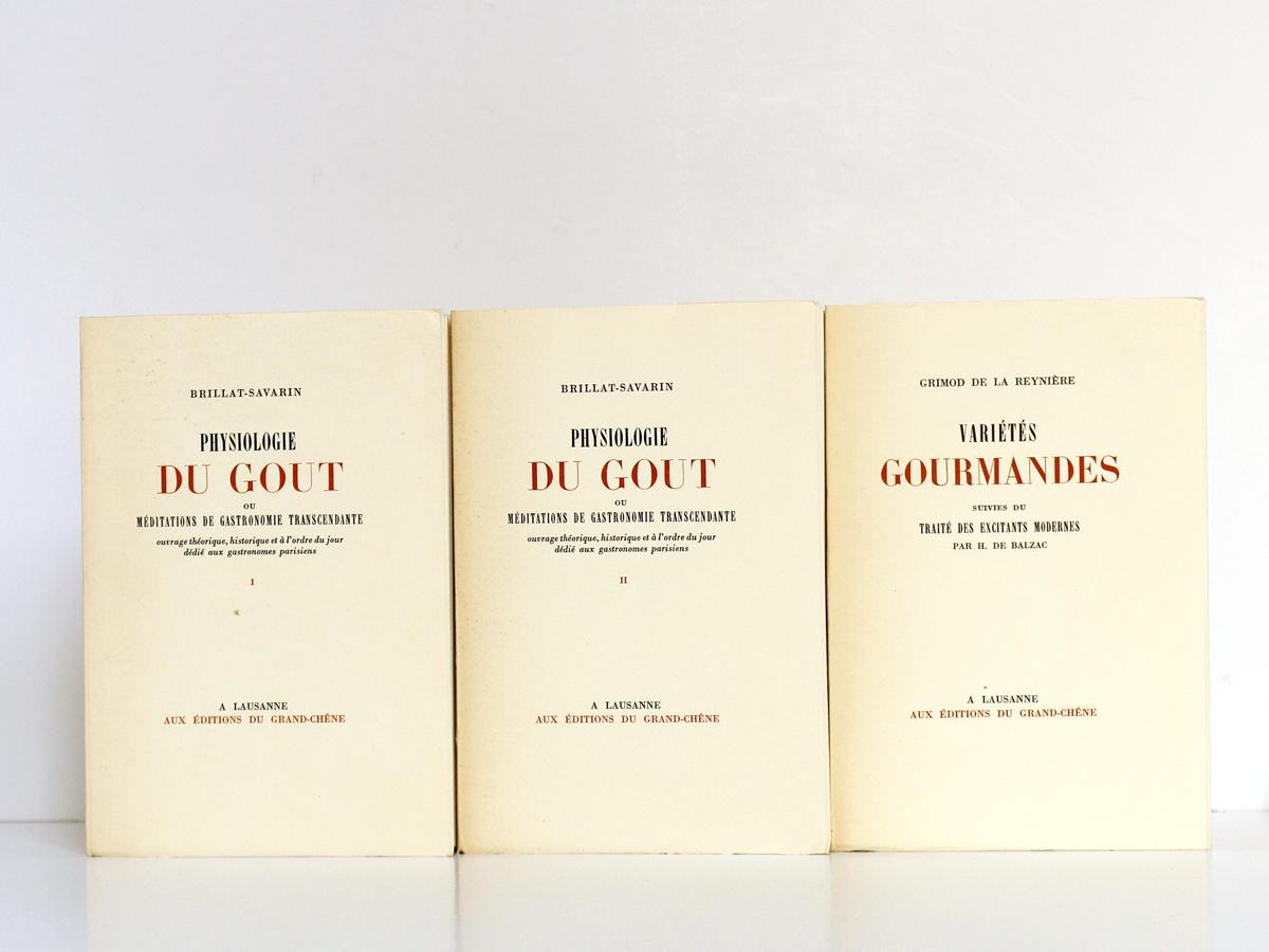 Classiques de la Table, BRILLAT-SAVARIN, GRIMOD DE LA REYNIÈRE. Éditions du Grand-Chêne, 1951. Livres.