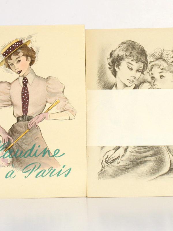 Claudine à Paris, Colette. Illustré par Renée Ringel. Éditions Latines. Livre et suite.