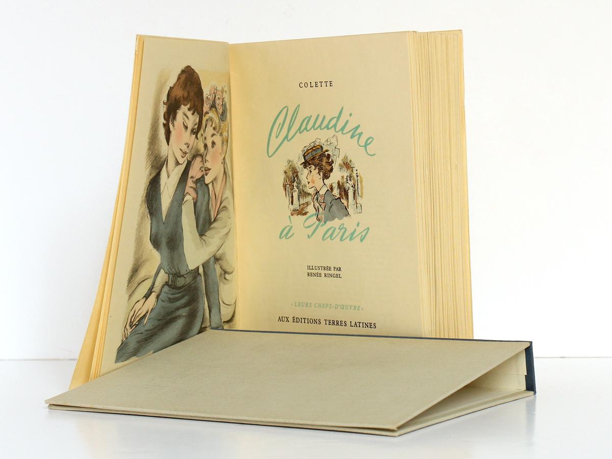 Claudine à Paris, Colette. Illustré par Renée Ringel. Éditions Latines. Frontispice et page titre.