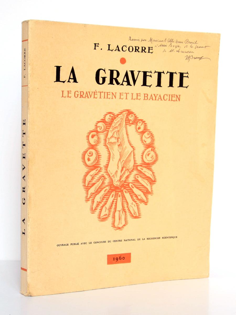 La Gravette Le Gravétien et le Bayacien, Fernand LACORRE. Imprimerie Barnéoud, 1960. Couverture.