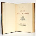 Le Lys dans la vallée, Balzac. Piazza Éditeur / Le Livre français, 1927. Page titre.