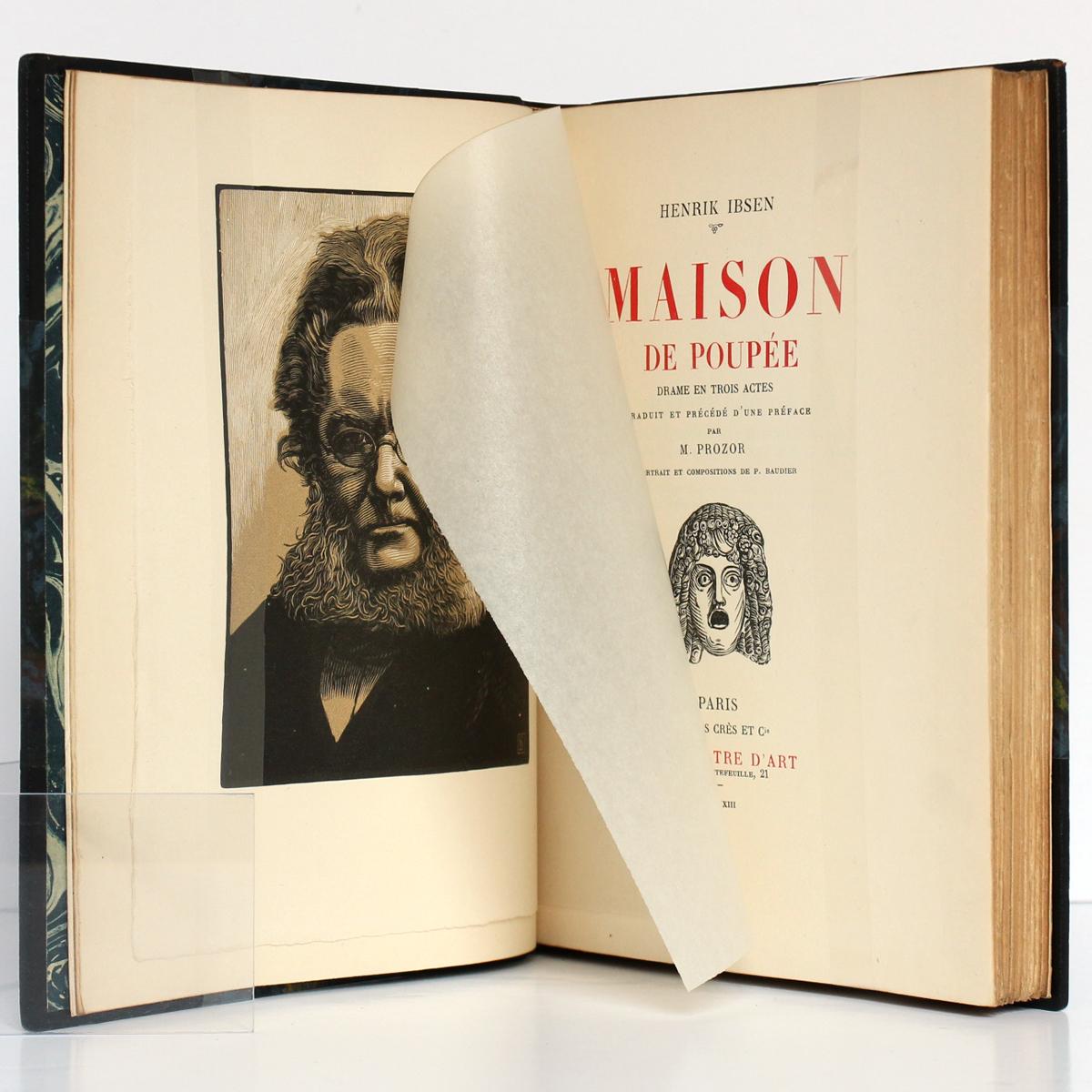 Maison de poupée, Henrik IBSEN. Georges Crès et Cie, 1923. Frontispice et page titre.
