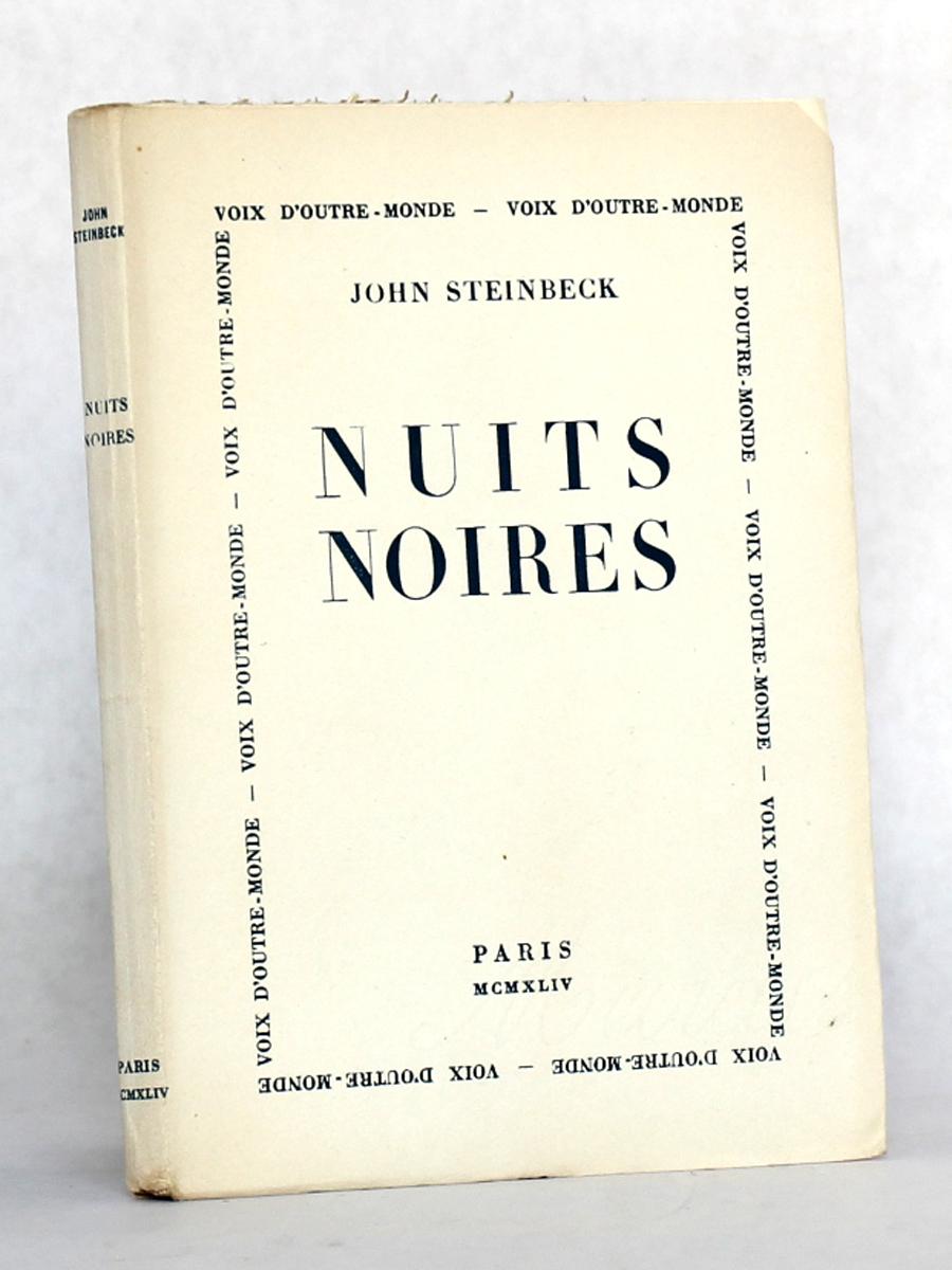 Nuits noires, John Steinbeck. Éditions de Minuit, 1945. Couverture.