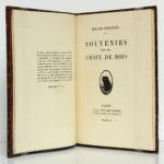 Souvenirs sur les Croix de bois, Roland DORGELÈS. À la Cité des Livres, 1929. Justificatif de tirage et page titre.