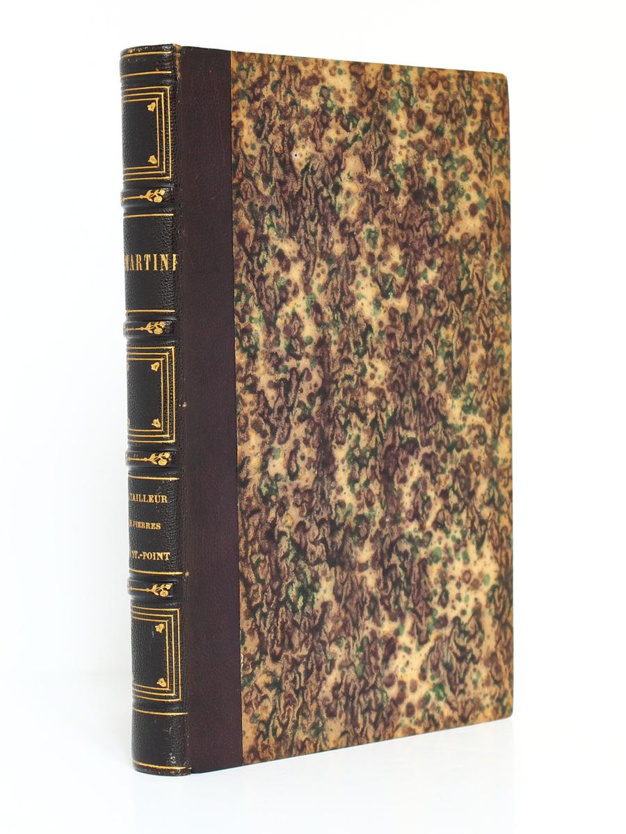 Le Tailleur de pierres de Saint-Point, Lamartine. Lecou-Furne_Pagnerre, 1851. Reliure.
