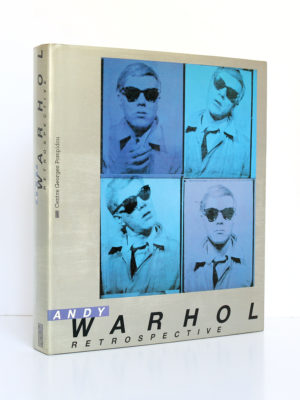 Andy Warhol Rétrospective. Centre Georges Pompidou 1990. Couverture.