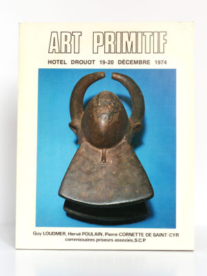 Art primitif. Hôtel Drouot 1974. Collection André Schoeller. Couverture.
