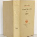 Connaissance de l'Est, Paul CLAUDEL. Typographie de Léon Pichon, 1928. Couverture : dos et plats.