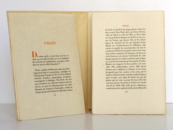 Connaissance de l'Est, Paul CLAUDEL. Typographie de Léon Pichon, 1928. Pages intérieures 2.