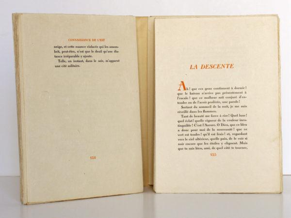Connaissance de l'Est, Paul CLAUDEL. Typographie de Léon Pichon, 1928. Pages intérieures 3.