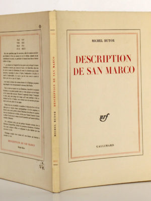 Description de San Marco, Michel BUTOR. nrf-Gallimard, 1963. Couverture : dos et plats.