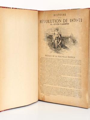 Histoire de la Révolution de 1870-71. Tome I, Jules CLARETIE. 1877. Page titre.