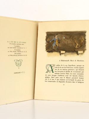La Maison du Chat-qui-pelote, Honoré de BALZAC. Illustrations de P.-G. KLEIN. Jean Landru Éditeur, 1944. Justificatif de tirage et première page.