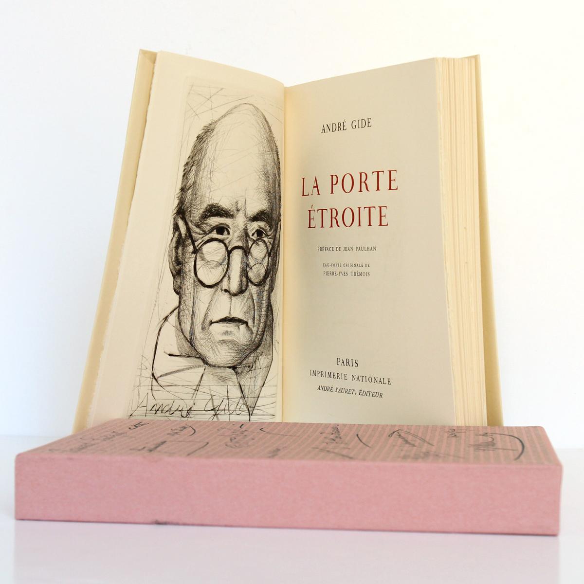 La Porte étroite, André GIDE. André Sauret Éditeur, 1958. Frontispice et page titre.