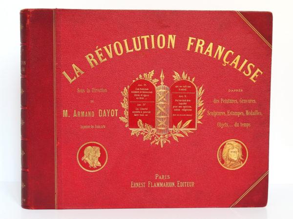 La Révolution française, Armand Dayot. Flammarion, sans date [1896]. Reliure : premier plat.