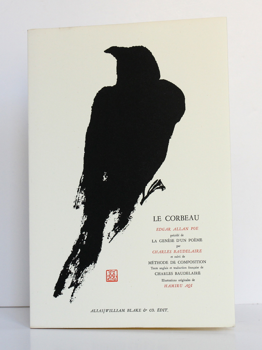 Le Corbeau, Allan Edgar POE. Illustrations de HAMIRU AQI. Alias / William Blake & Co. Édit, 1955. Couverture.
