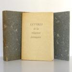 Lettres de la religieuse portugaise, lithographies de Mariette LYDIS. Fernand Hazan, 1947. Couverture, chemise et étui.
