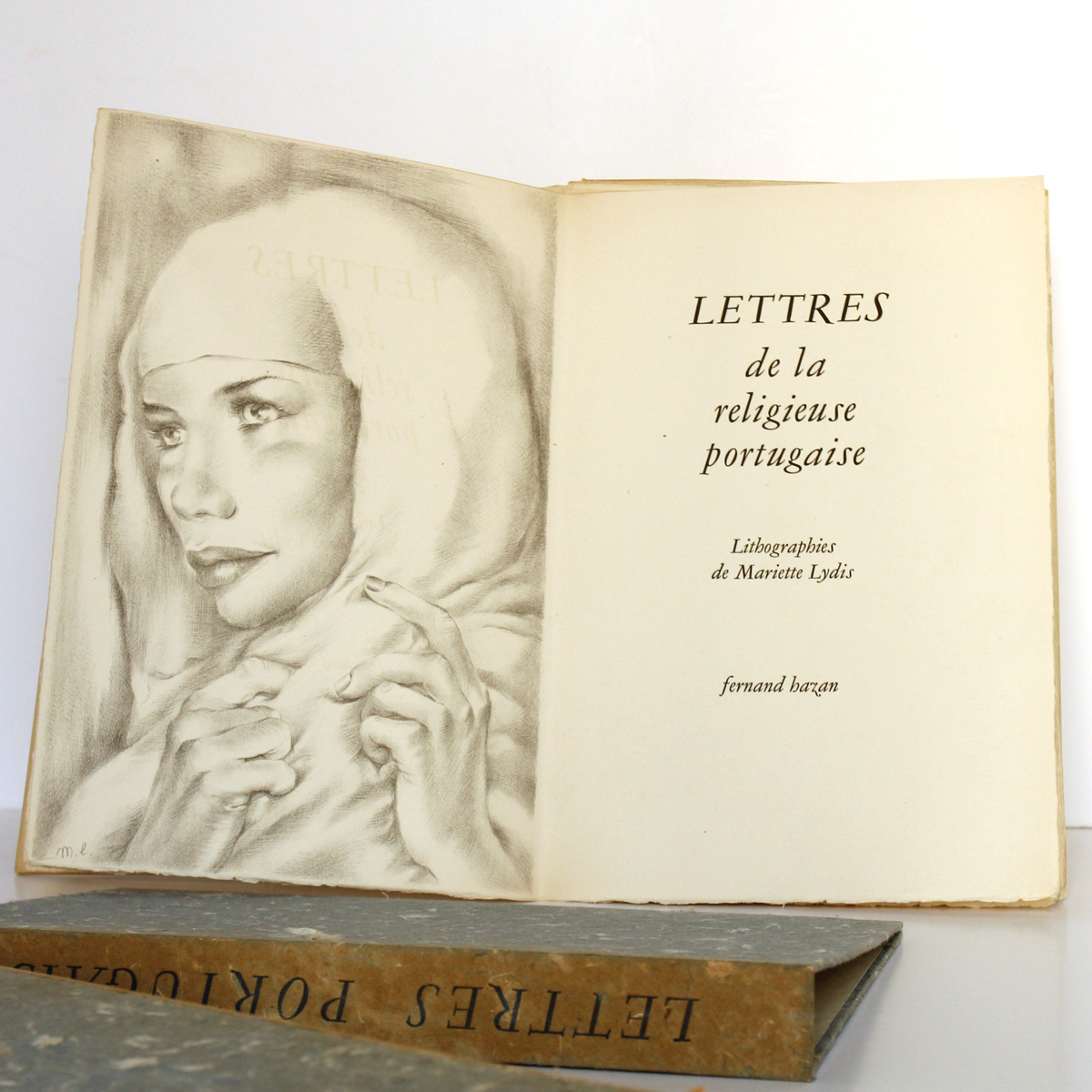 Lettres de la religieuse portugaise, lithographies de Mariette LYDIS. Fernand Hazan, 1947. Frontispice et page titre.