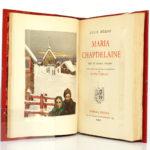 Maria Chapdelaine, Louis HÉMON. Illustrations de Eugène CORNEAU. Rombaldi Éditeur, 1939. Frontispice et page titre.