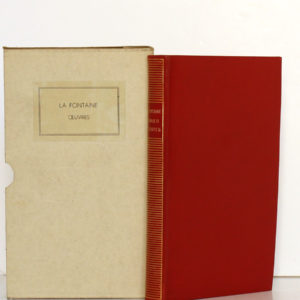 Fables, Contes et Nouvelles. LA FONTAINE. Bibliothèque de la Pléiade, 1932. Reliure et carton.