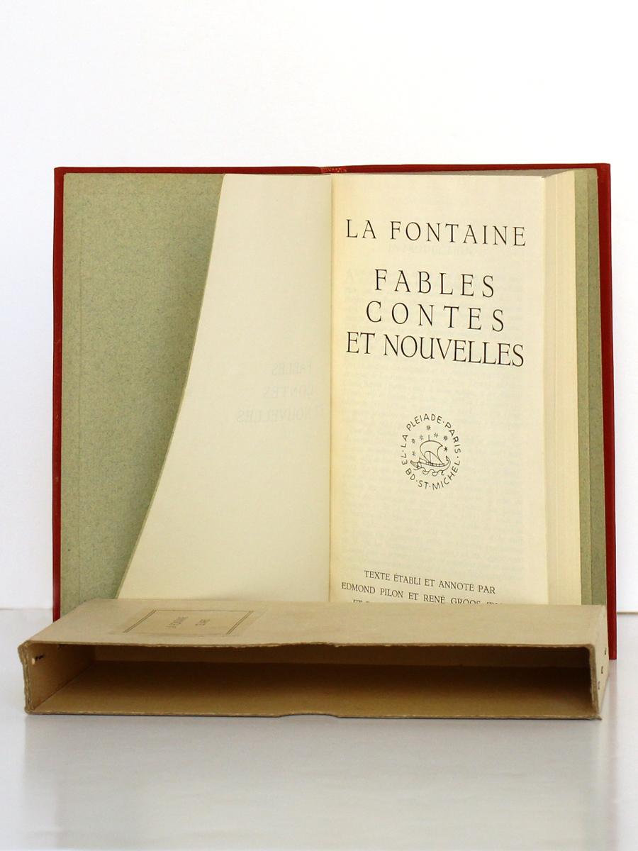 Fables, Contes et Nouvelles. LA FONTAINE. Bibliothèque de la Pléiade, 1932. Page titre.