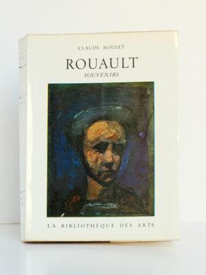 Rouault Souvenirs, Claude ROULET. Éditions H. Messeiller - La Bibliothèque des Arts, 1961. Couverture.