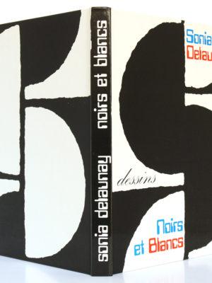 Dessins Noirs et Blancs, Sonia Delaunay. Jacques Damase éditeurs, 1978. Couverture : dos et plats.