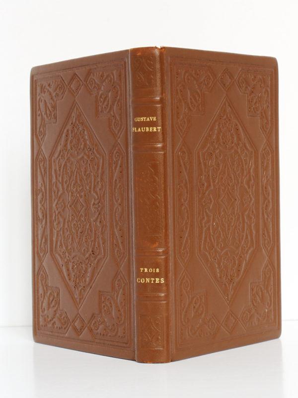 Trois Contes, Gustave FLAUBERT. Éditions d'Art H. Piazza, 1931. Reliure : dos et plats.