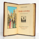 Trois Contes, Gustave FLAUBERT. Éditions d'Art H. Piazza, 1931. Frontispice et page titre.
