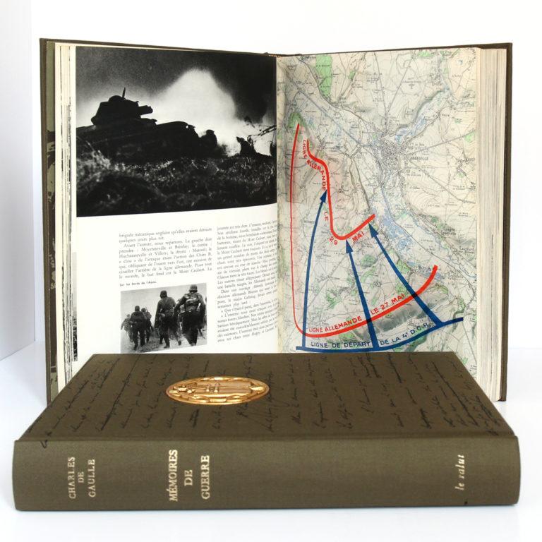 Mémoires de guerre, Charles de Gaulle. Librairie Plon, 1963. 3 tomes. Pages intérieures 1.