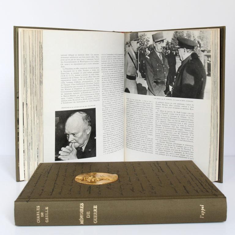 Mémoires de guerre, Charles de Gaulle. Librairie Plon, 1963. 3 tomes. Pages intérieures 2.