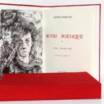 Œuvre poétique, Arthur RIMBAUD. Illustrations de BRÉHAT. 2 volumes. Roissard, 1971-1972. Frontispice et page-titre du volume 1.