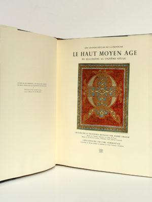 La peinture du Haut Moyen-Âge, André GRABAR, Carl NORDENFALK. Skira, 1957. Page titre.