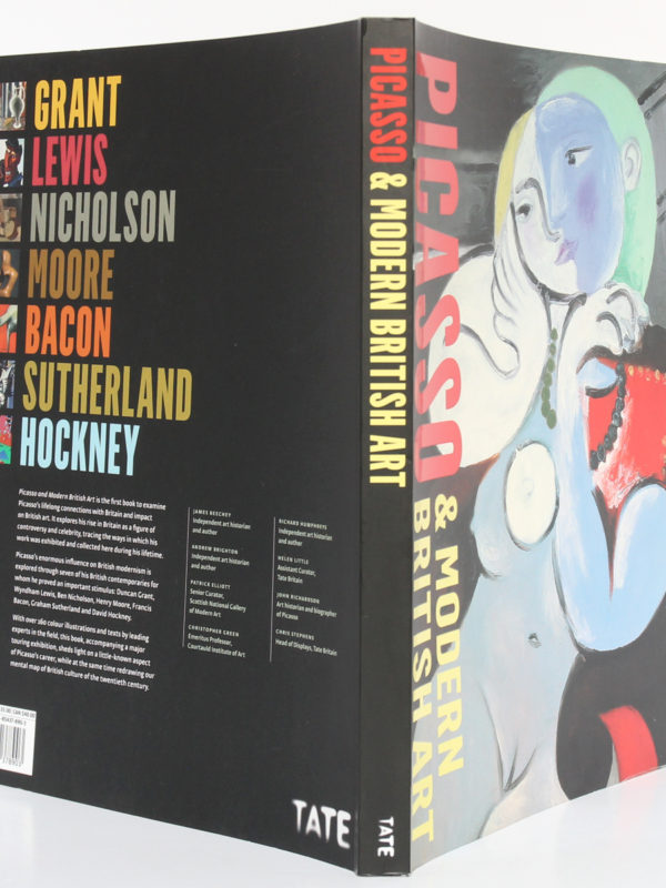Picasso & Modern British Art. Catalogue de l'exposition à la Tate Britain de Londres en 2012. Couverture : dos et plats.