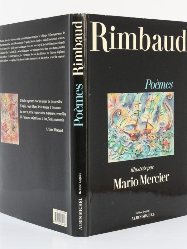 Poèmes illustrés par Mario MERCIER, RIMBAUD. Éditions Albin Michel / Éditions Hélène Legoût, 1991. Jaquette : dos et plats.
