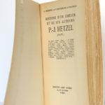 Histoire d'un éditeur et de ses auteurs P.-J. Hetzel (Stahl), PARMÉNIE, BONNIER DE LA CHAPELLE. Albin Michel, 1953. Page titre.