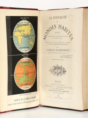 La pluralité des mondes habités, Camille Flammarion. Didier et Cie, 1880. Frontispice et page titre.