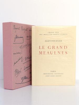 Le grand Meaulnes, ALAIN-FOURNIER. Lithographie de Berthold MAHN. Imprimerie Nationale, André Sauret Éditeur, 1958. Couverture et étui.