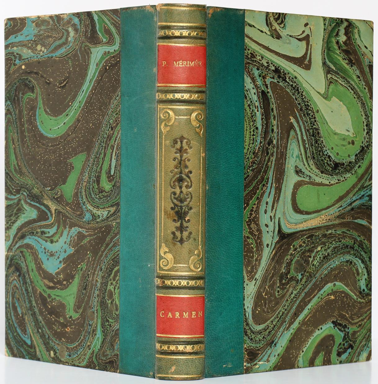 Carmen et quelques autres nouvelles, Prosper MÉRIMÉE. Dessins de Prosper MÉRIMÉE. Payot, 1927. Reliure.