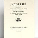 Adolphe, Benjamin CONSTANT, illustrations Pierre GANDON. À la Société d'édition «Le Livre», 1930. Couverture.