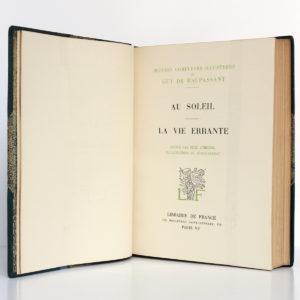 Au Soleil - La Vie errante, Guy de Maupassant. Illustrations de VERGÉ-SARRAT. Librairie de France, 1935. Page titre.