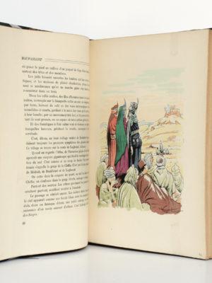 Au Soleil - La Vie errante, Guy de Maupassant. Illustrations de VERGÉ-SARRAT. Librairie de France, 1935. Pages intérieures 1.